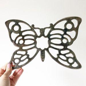 Leonard Silverplate Butterfly Kitchen Trivet Boho